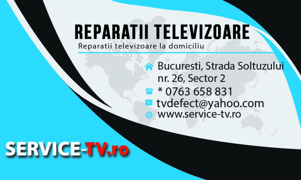 carte de vizita reparatii televizoare